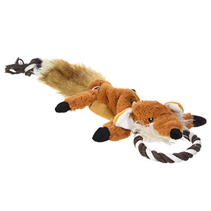 Ethical Pet Stuffing-Free Fox Toy